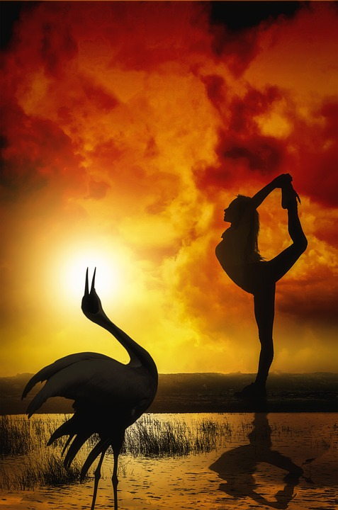 Dance, Silhouette, Sunset, Sun, Water