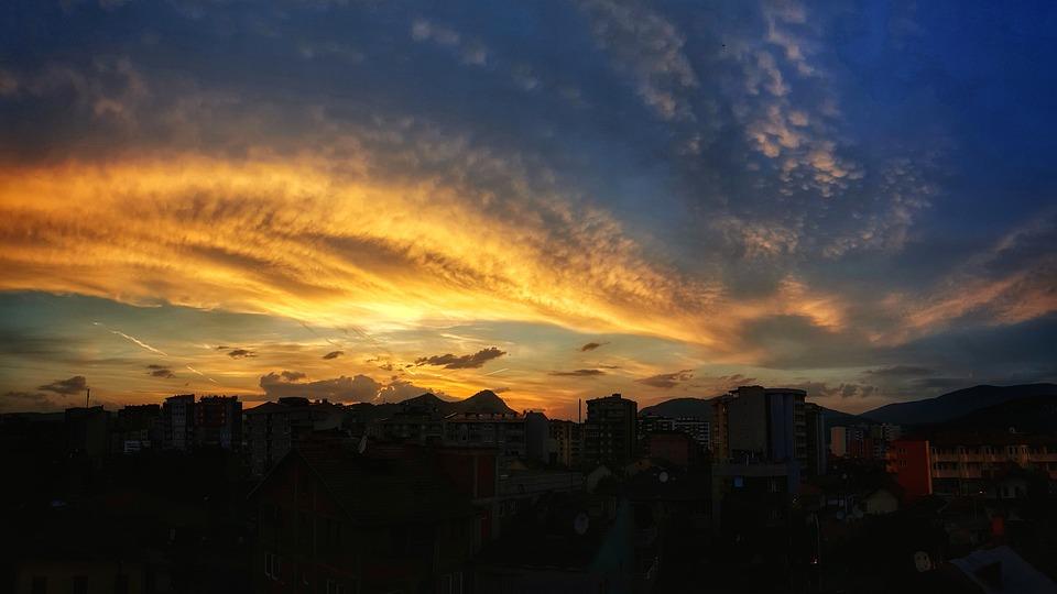 Sunset, Panoramic, Dawn, Nature, Sun