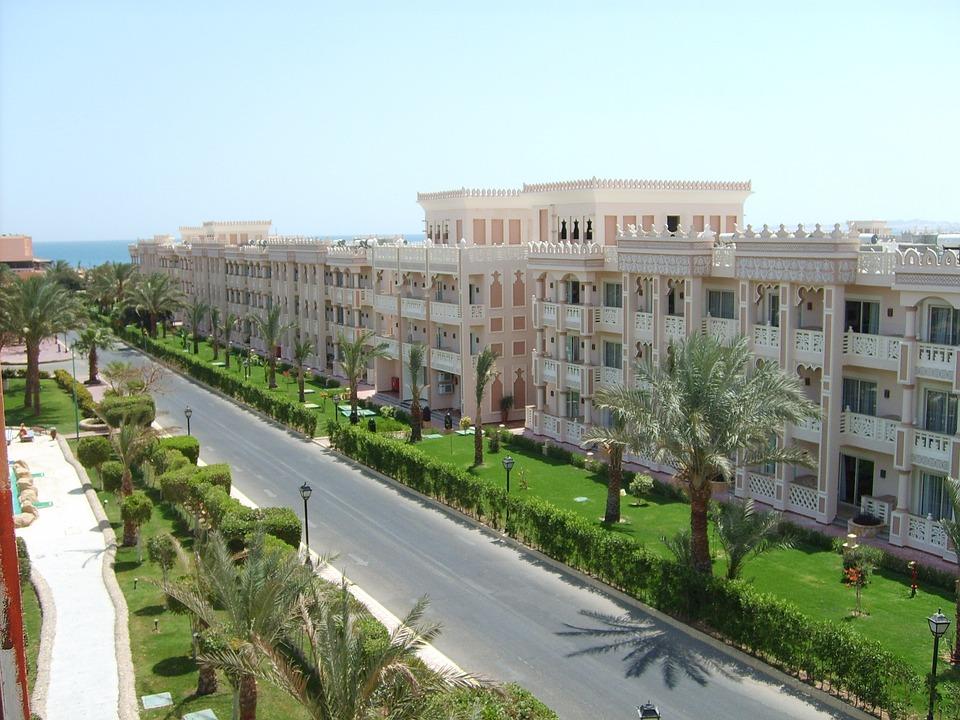 Egypt, Hotel, Street, Hurghada, Hot, Sun