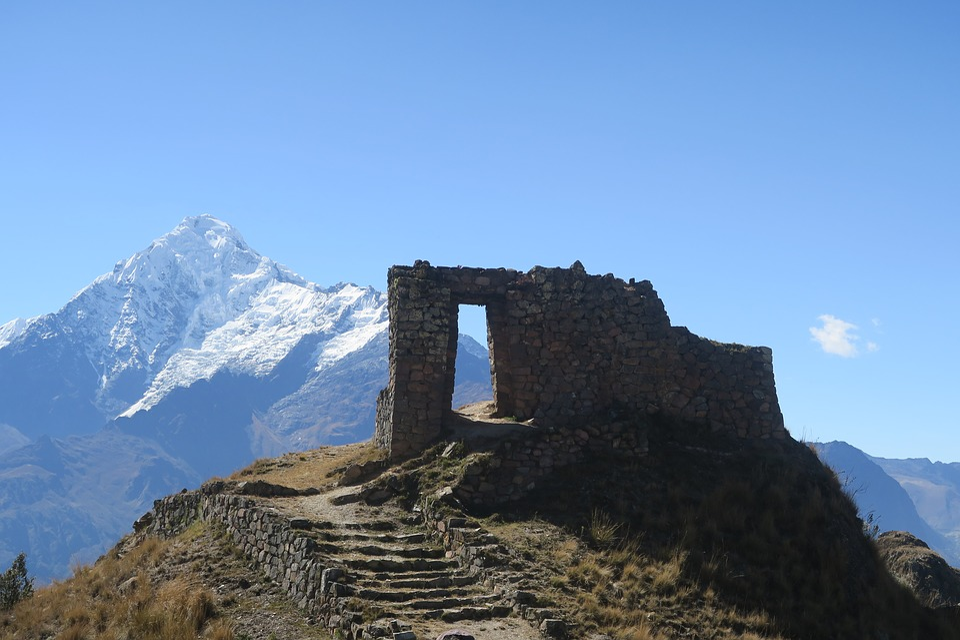 Mountain, Sky, Nature, Travel, Outdoors, Sun Gate, Peru