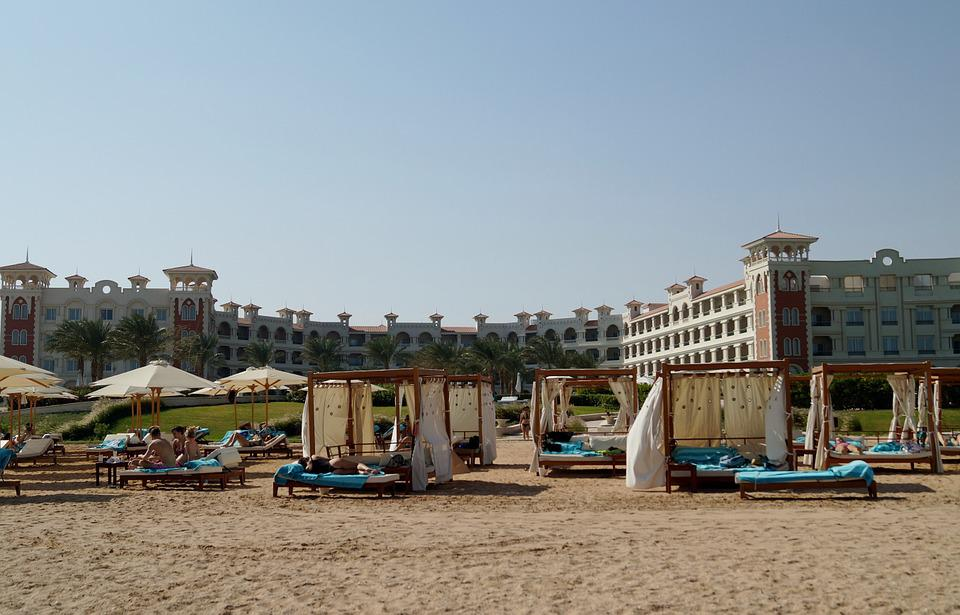 Egypt, Hurghada, Sand, Sun, Beach, Bathing, Sea, Hotel