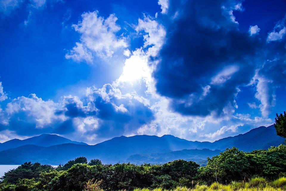 Sun, Light, Japan, Cloud, Sky, Natural, Summer, Plant