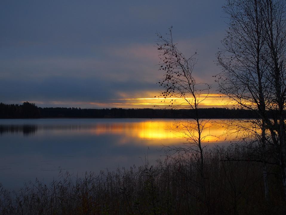 Sun, Morning, Sunrise, Sky, Nature, Water, Lake