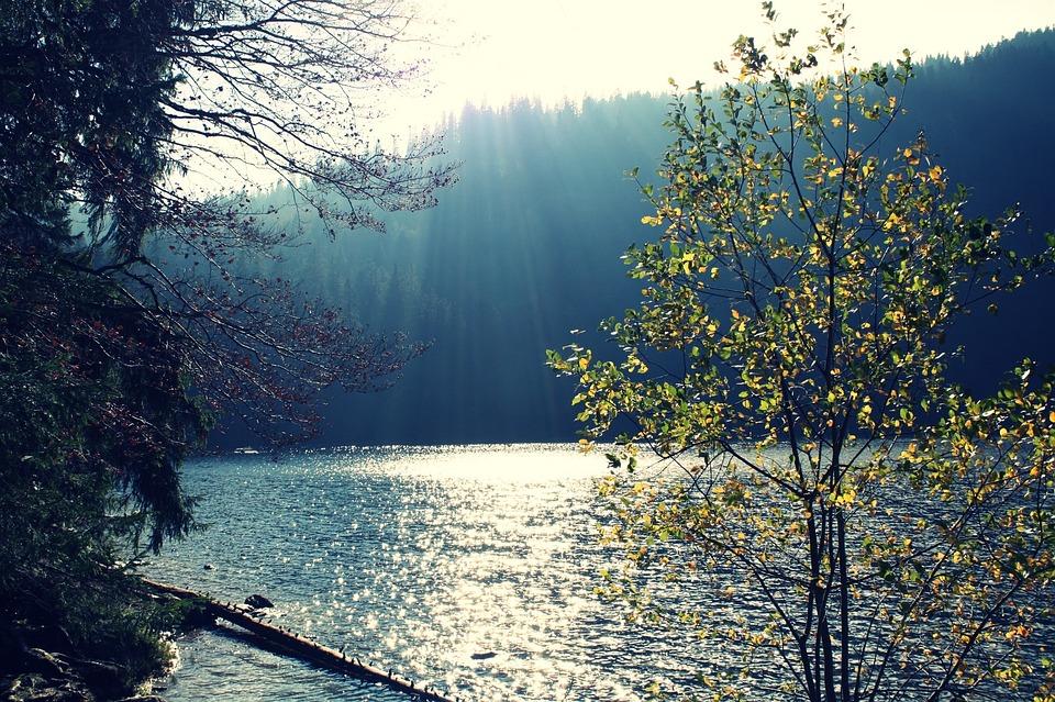 Lake, Sun, Water, Mirroring, Landscape, Mood