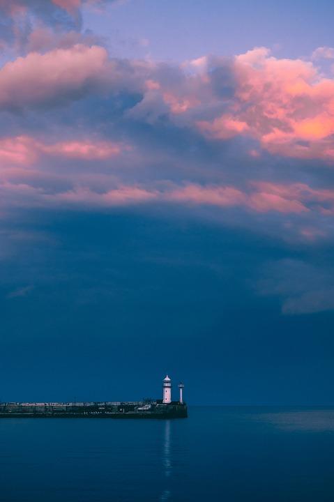 Sunset, Sun, Vacation, Landscape, Clouds, Nature, Sea