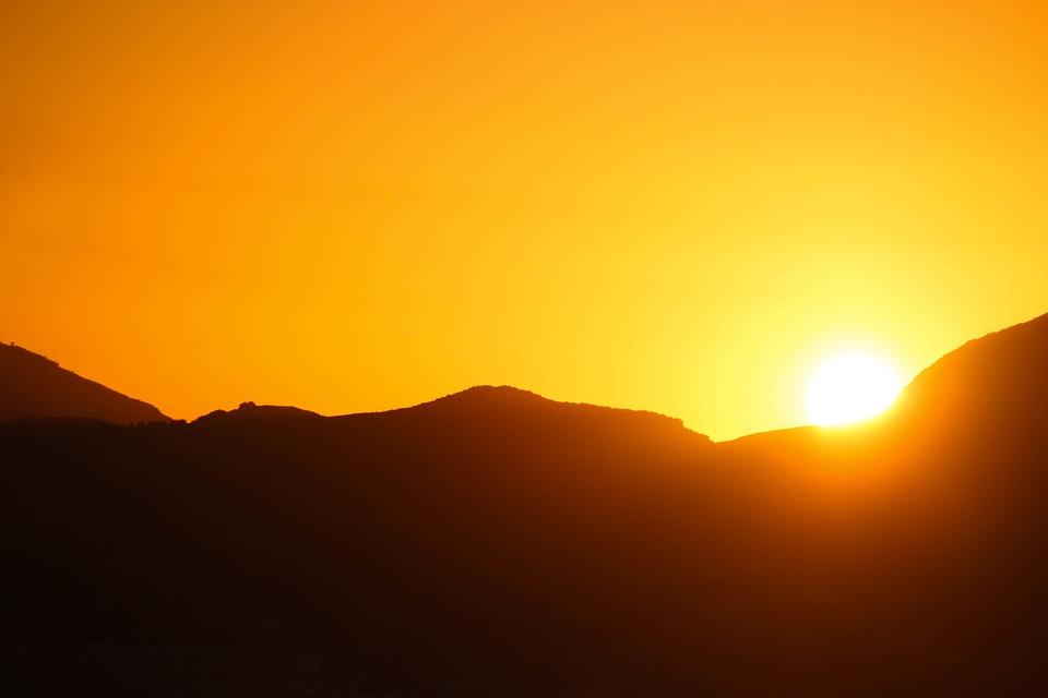 Sunset, Orange, Sun, Twilight, Sky, Landscape, Summer
