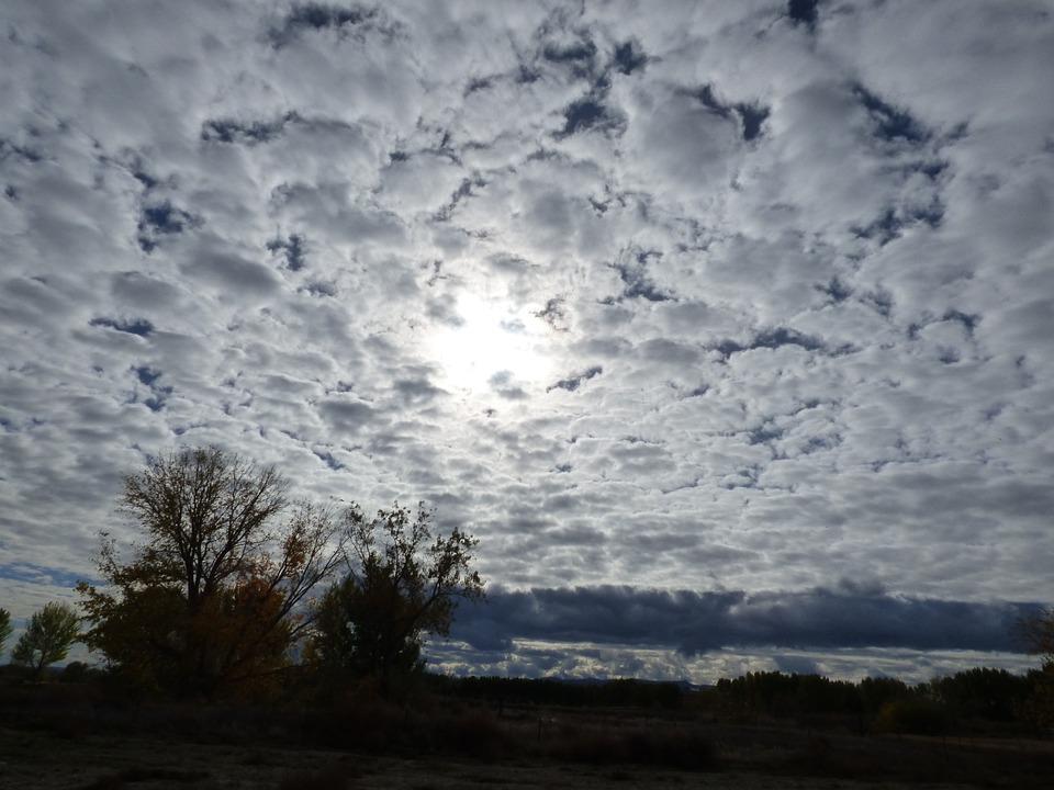 Landscape, Sun, Clouds, Sky, Idaho