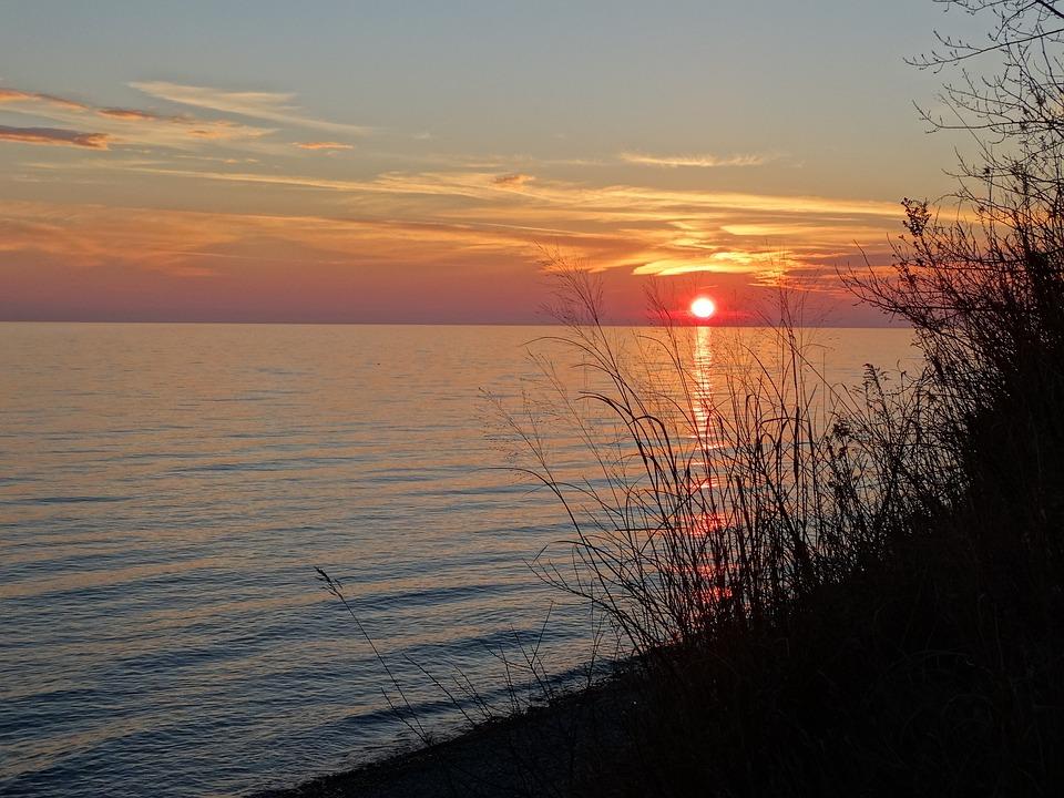 Sunset, Lake, Water, Sky, Nature, Landscape, Sun