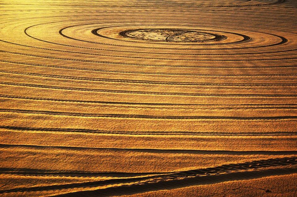Sand, Circles, Sun, Light, Inspiration