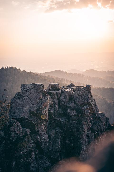 Mountain, Rock, Sun, Landscape, Mountains, Nature