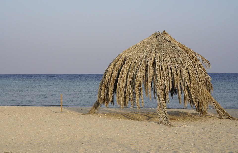 Marsa Shagra, Egypt, Palm Leaves, Sun Protection