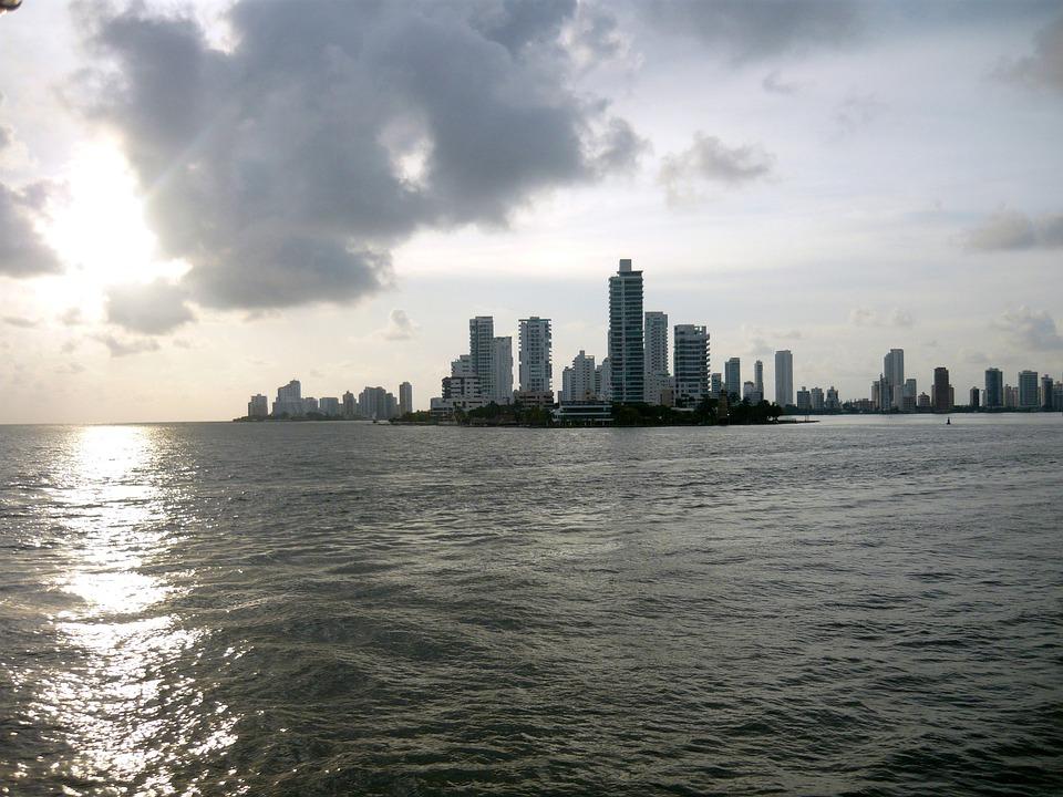 Cartagena, Bay, Sea, Water, Calm, Sunset, Sun