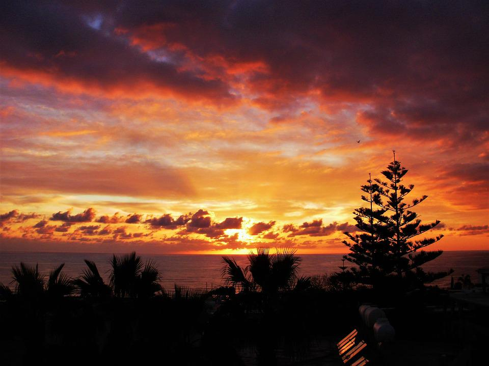 Sky, Sun, Sunset, Farbenspiel, Dusk, Mood, Setting Sun