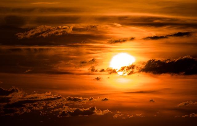 Sun, Setting Sun, Sunset, Abendstimmung, Evening Sky