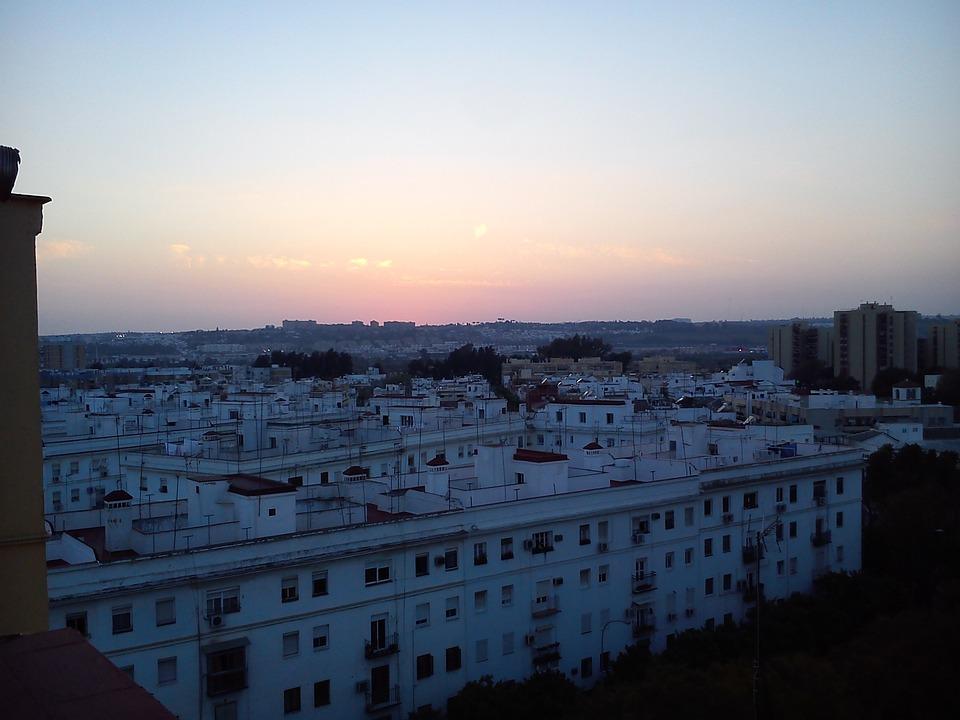 Twilight, Sun, Triana, Seville