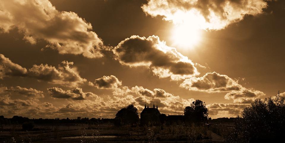 Sky, Clouds, Clouds Sky, Heaven, Landscape, Sun