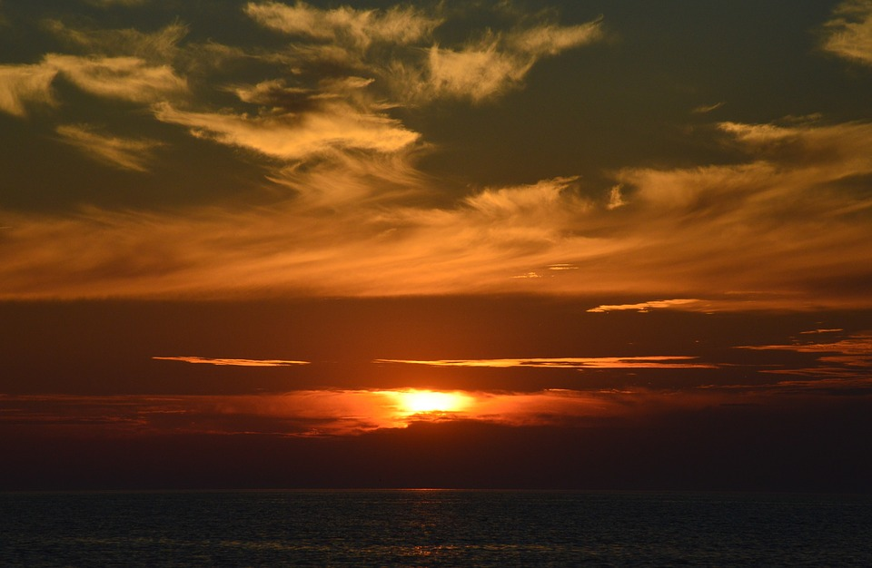 Sunset, Sun, Dawn, Nature, Dusk, Sky, Schönwetter