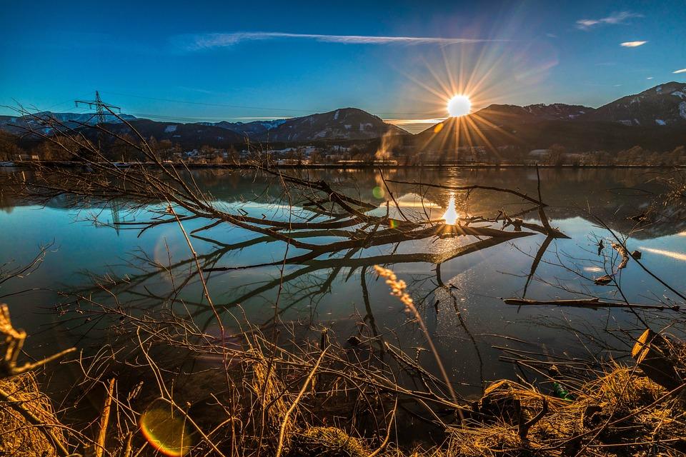 Long Exposure, Sun, Sunset, Landscape, Sky, Water