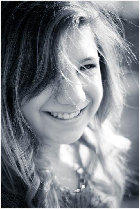 Girl, Child, Sun, Smile, Face