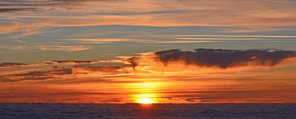 South Peak, Sunset, Sun, Twilight, Sea