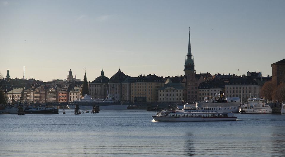 Stockholm, Sweden, Scandinavia, Sun, Building, Sea