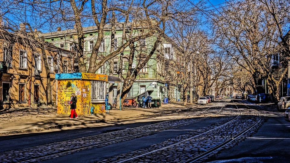 Odessa, Street, Sun, Tray