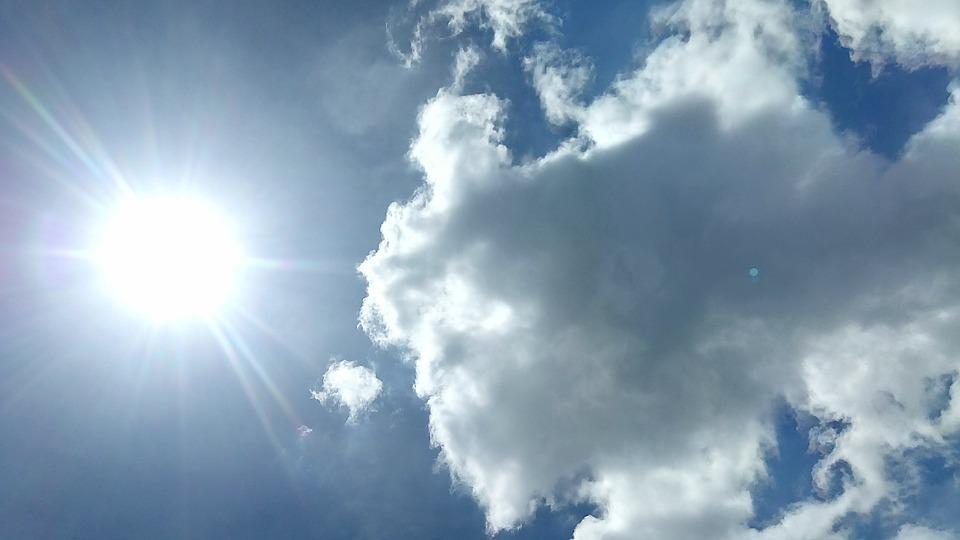 Sun, Sky, Cloud, Nature, Summer, Blue, Light, Sunlight