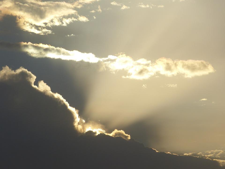 Sun, Sunrise, Clouds, Mood, Sunbeam, Light, Morning