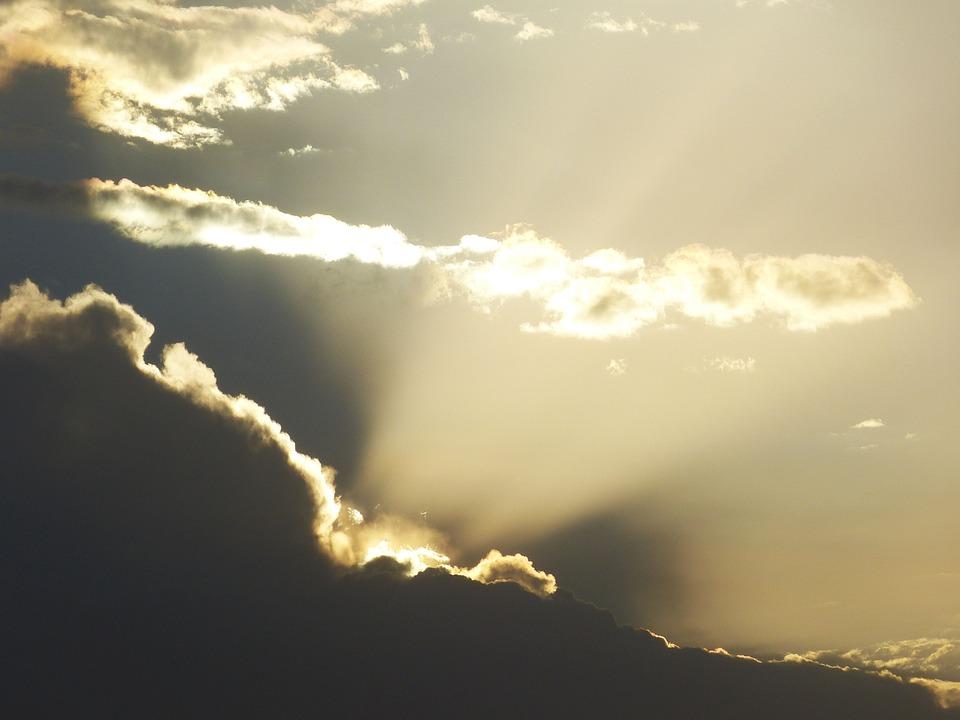 Sun, Rays, Clouds, Sky, Sunrise