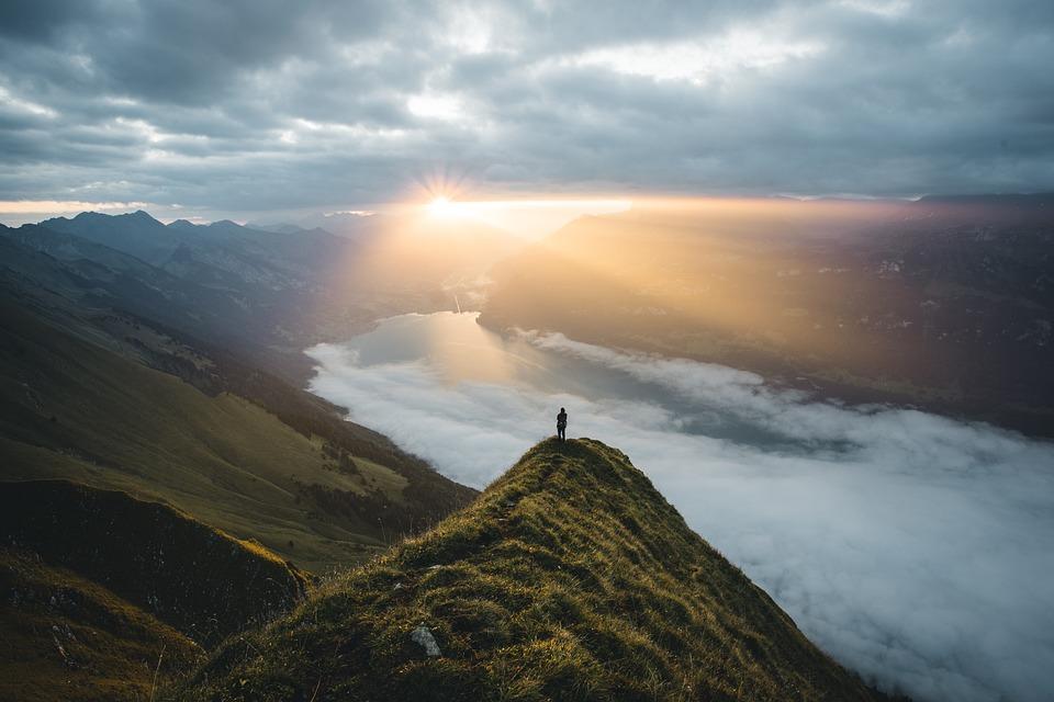 Switzerland, Sunrise, Sun, Landscape, Sky, Morning