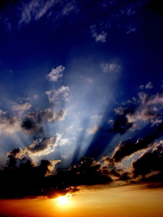 Sunset, Sun, Cloud, Fire, In The Evening