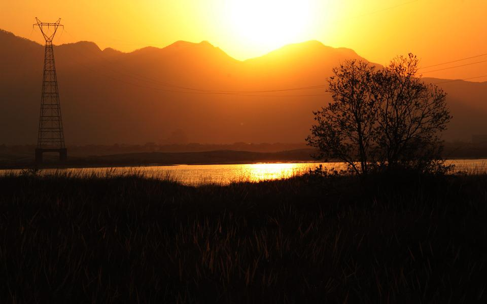 Sunset, Jiang, Sun, Nature, Landscape