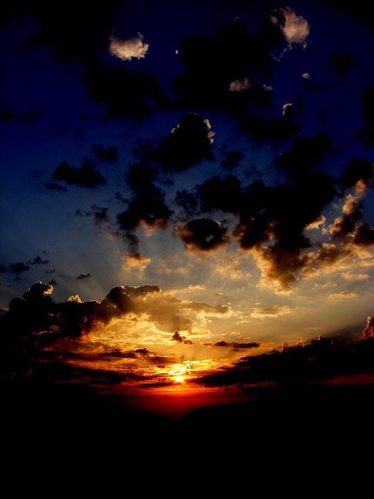 Sunset, Sun, Sky, Cloud, Twilight, Red, In The Evening
