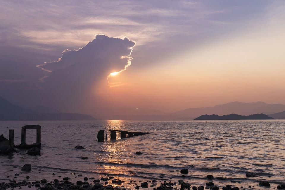 Waters, Sunset, Sea, Dawn, Sky, Outdoor, Sun, Twilight