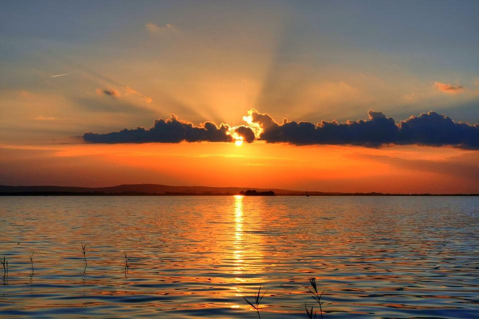Sunset, Waters, Sun