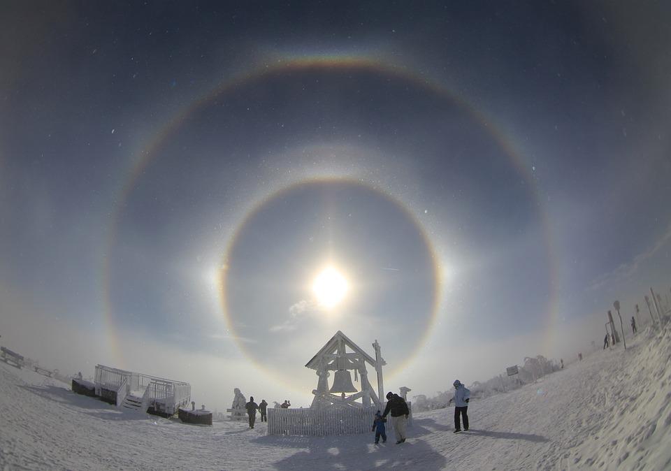 Halo, Eisnebelhalo, Celestial Phenomenon, Sun Swirls