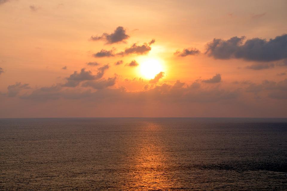 Sunset, Sea, Thailand, Summer, Ocean, Nature, Sun, Sky