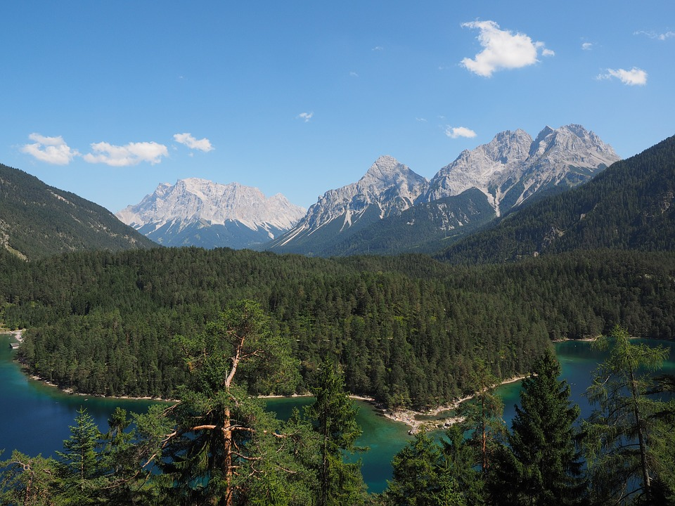 Far Right, Blindsee, Zugspitze Massif, Sun Top