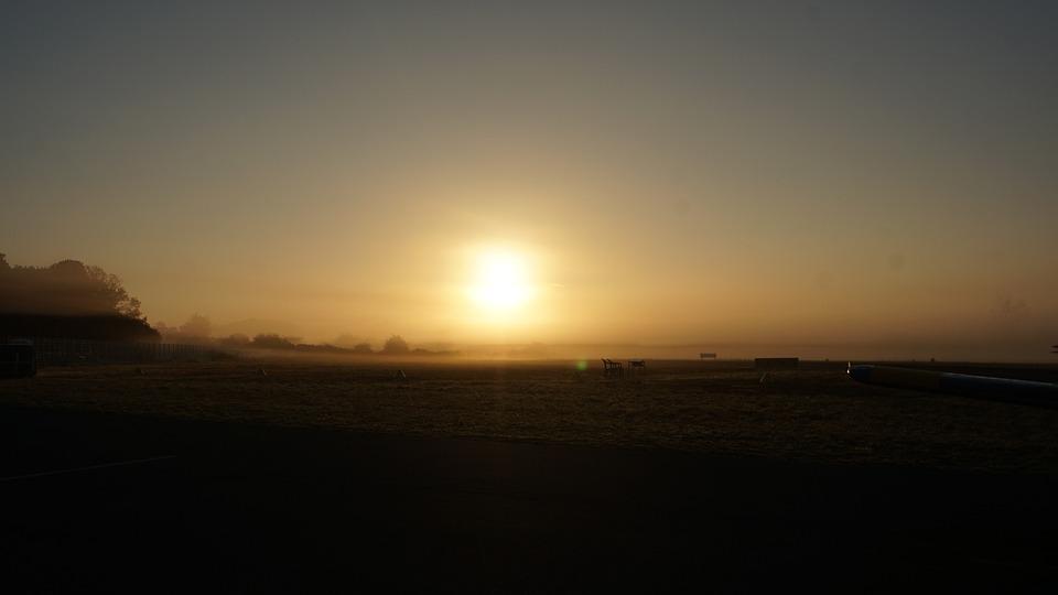 Sunrise, Sun, Track Airfield, Aerodrome