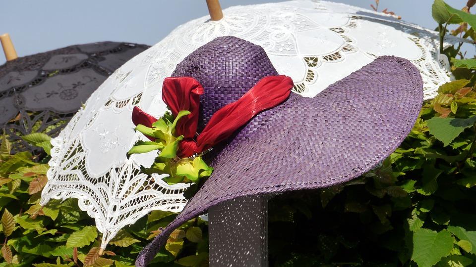 Fashion, Sun Umbrellas, Hat, Lace