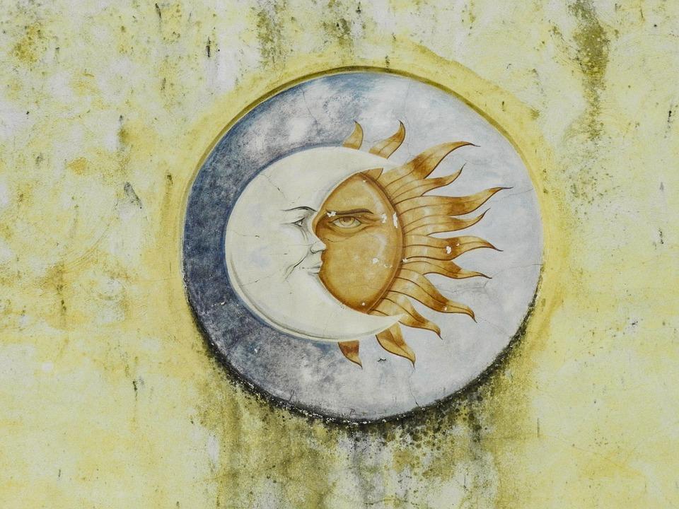 Free photo Sun Wall Decoration Moon - Max Pixel