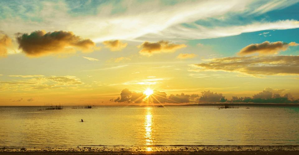 Sunset, Water, Dawn, Sun, Nature