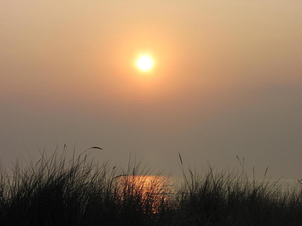 Morgenstimmung, Sun, Yellow, Orange, Good Morning, Wave