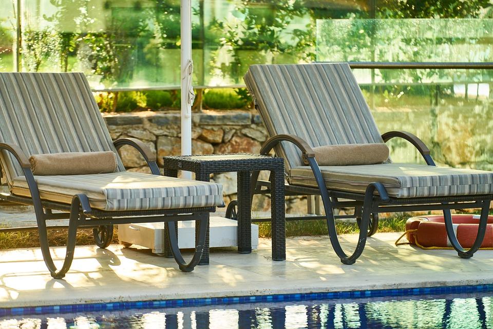 Holiday, Hotel, Pool, Sunbeds, Sunbathing, Reach, Sleep