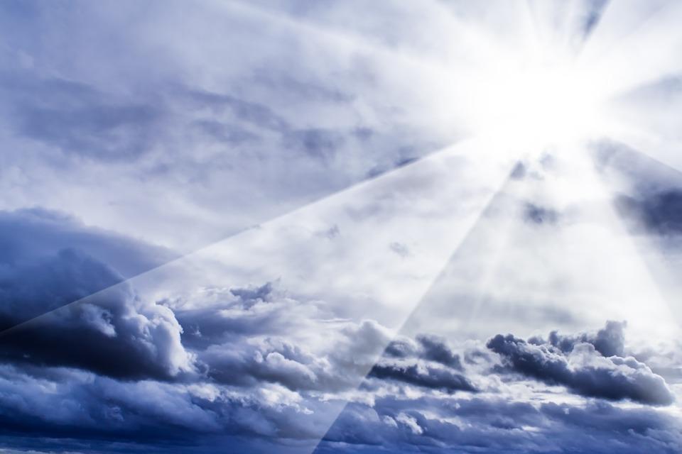 Clouds, Sky, Blue, Rays, Sunbeam, Cloud Formation, Sun