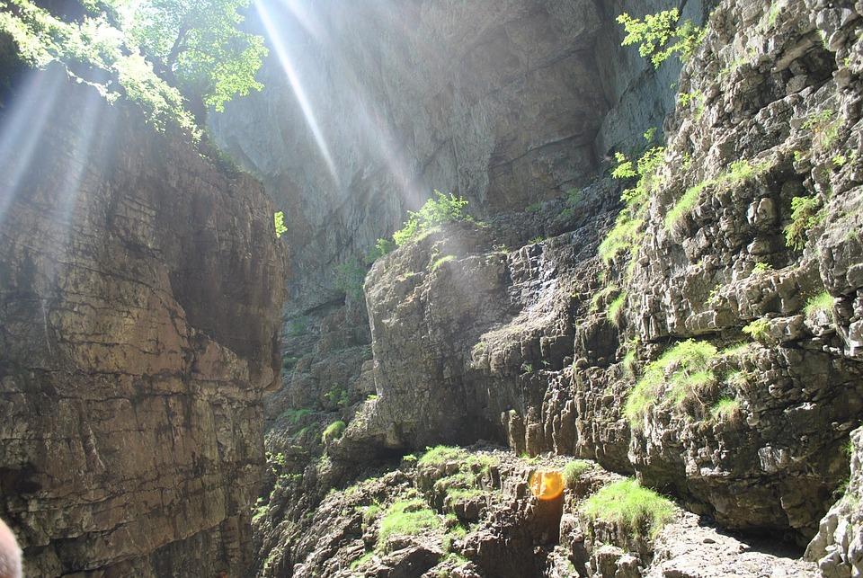 Sun, Mountains, Sunbeam, Rock