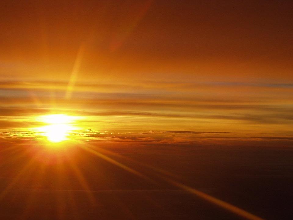 Clouds, Sky, Sun, Sunset, Afterglow, Mood, Sunbeam