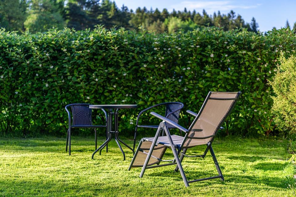 Stay In The Garden, Garden, Sunbed, Lawn, Hedge