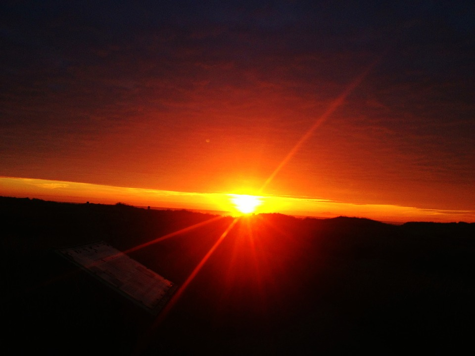 Sunset, Sunburst, Sunlight, Nature, Flare
