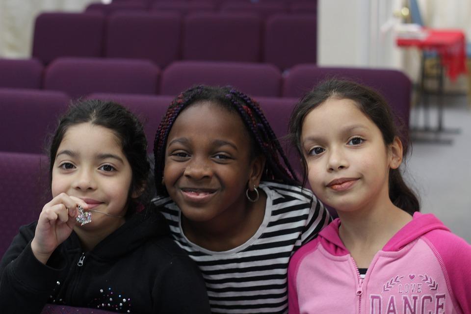 African America, Spanish, Children, Sunday School